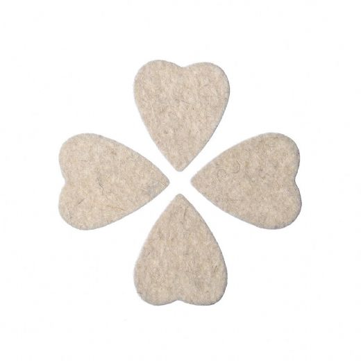 Felt Tones Heart Natural Wool Felt 4 Picks